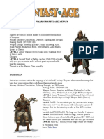 Character Classes - Warrior Specializationsff