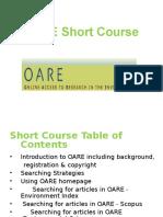 OARE Short Course 2013 07