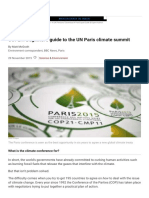 Beginner's Guide to the UN Paris Climate Summit