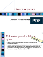 Afinidad de Colorantes