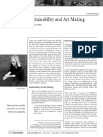 Sustainability and Art Making