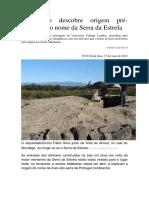 Astrónomo Descobre Origem Pré-histórica Do Nome Da Serra Da Estrela