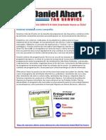 Daniel Ahart Tax Service | Franquicias de taxes, franquicia de impuestos