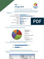 Umfrage-Auswertung Semantik Web Tag 2010, Leipzig