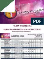 Tarifario Preventa 2015 Agosto