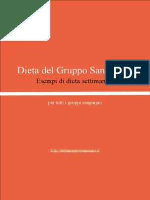 dieta del gruppo o positivo