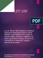 Presentacion Programas de Promocion y Ley 100