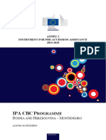 2014 - 2020 Ipa Cbc Bosnia and Herzegovina-montenegro