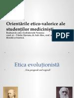 Orientările Etico-Valorice Ale Studenţilor Medicinişti