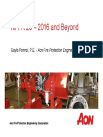 Ifpa Sfpe Nfpa 20 2016 and Beyond
