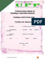 Trabajo de Metodologia Sobre La TEORIA de MASLOV