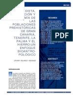 DIETA, NUTRICIÓN Y ECONOMÍA DE LAS POBLACIONES PREHISTÓRICAS DE GRAN CANARIA, TENERIFE, LA PALMA Y EL HIERRO:UN ENFOQUE BIOANTROPOLÓGICO