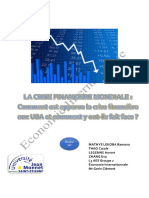 Report international economy in French