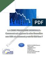 Report international economy in French
