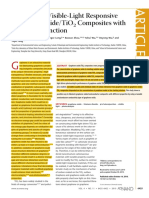 Synthesis of Visible-Light Responsive Graphene Oxide-TiO2 Composites With P-n Heterojunction