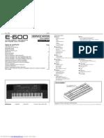 Roland e600 service manual
