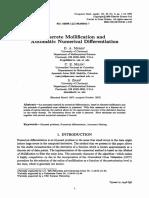 Discrete Mollification and Automatica Numerical Differentiation