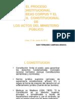 Ministerio Público y El Habeas Corpus