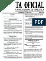 Sumario Gaceta Oficial 39.447