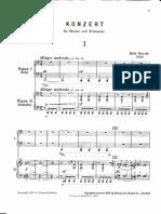 Bartok - SZ 83 - Piano Concerto 1 2p Reduct