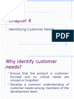 Customer Need Identification Process