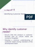 Customer Need Identification Process