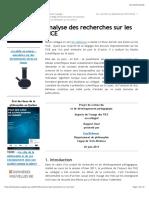 Analyse Des Recherches Sur Les TICE