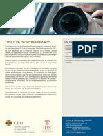 Ficha Detective Privado 2016