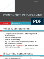 Components of E-learning