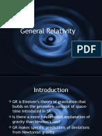 General relativity.