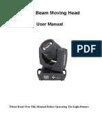 230w 7r Beam Manual
