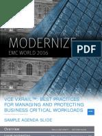 EMCWorld 2016 - VCE VxRail Overview