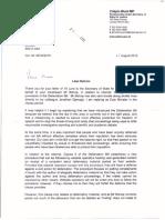 Libel Reform Letter