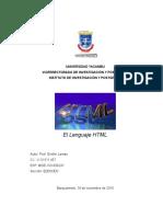 El Lenguaje HTML y Sus Usos