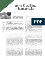 ...Maurice Chaudière Un Hombre Solar...
