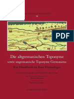 Old germanic toponymie