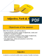 Adjectives,Verbs,Adverbs