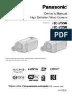 Panasonic V550 HC-V250 manual