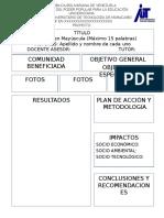 Modelo de Poster Para Proyectos 2016-17