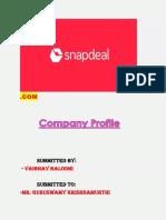 Company Profile Study SnD- By VAIBHAV