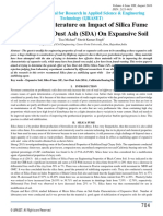 A Survey of Literature on Impact of Silica Fume (SF) and Saw Dust Ash (SDA) On Expansive Soil