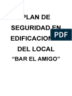 Plan de Seguridad en Edificaciones Del Local