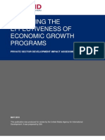 Assessing the Effectiveness of Economic Growth Programs
