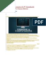 Aprende a Formatear La PC