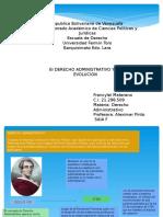 Presentación Linea de Tiempo de Derecho Administrativo