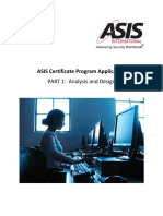 ASIS Certificate Application Part 1