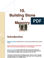 10 Building Stones & Masonry