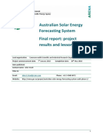Aus Solar Energy Forecasting System Final Report