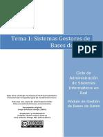 Tema 01 Sistemas Gestores de Bases de Datos