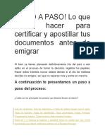 Requisitos Para Certificar y Apostillar Doumentos Para Emigrar